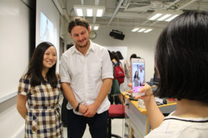 Student Zheng Zhuo ask to have her photo taken with Ben Solomon. .